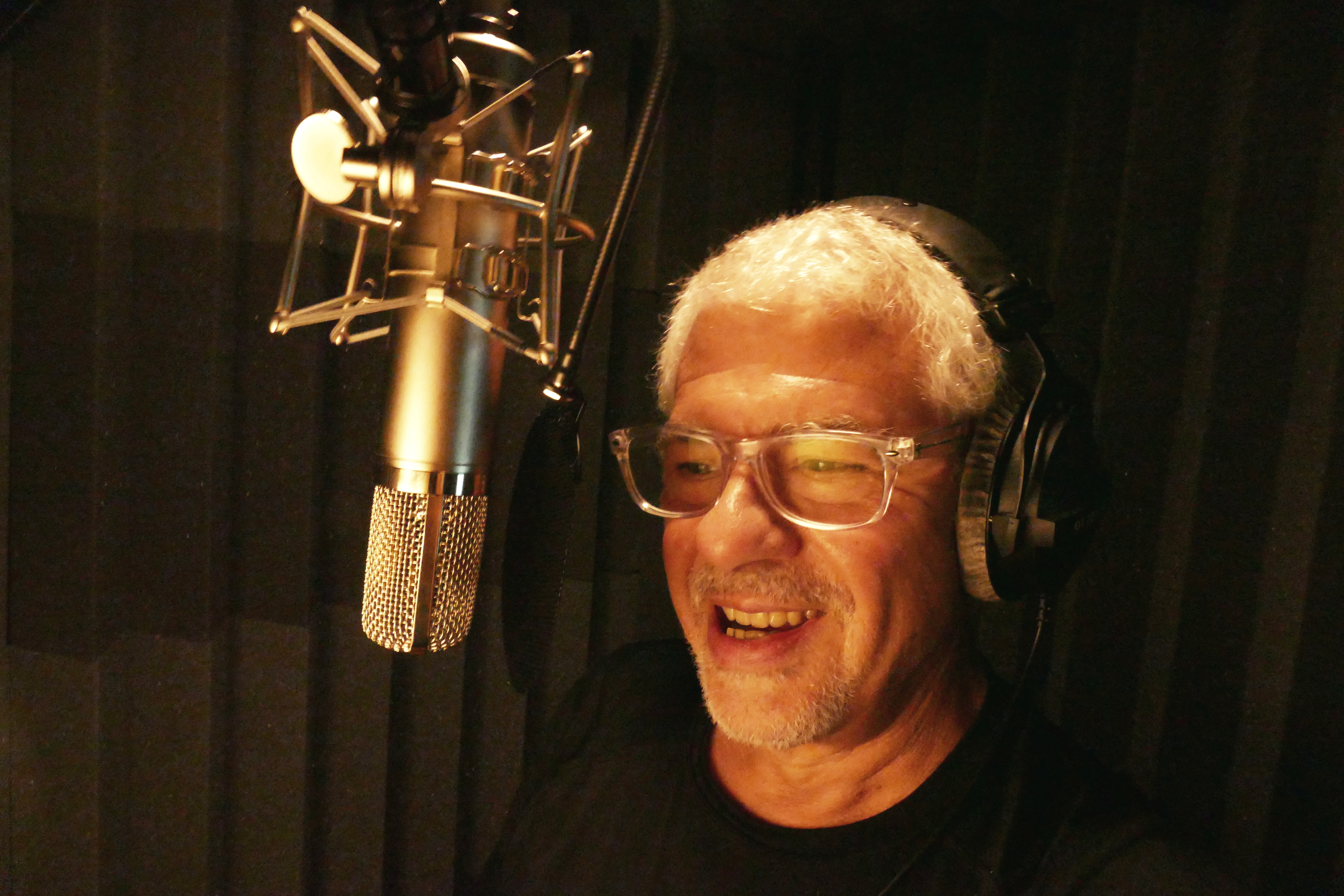 John Drew in Voice Booth