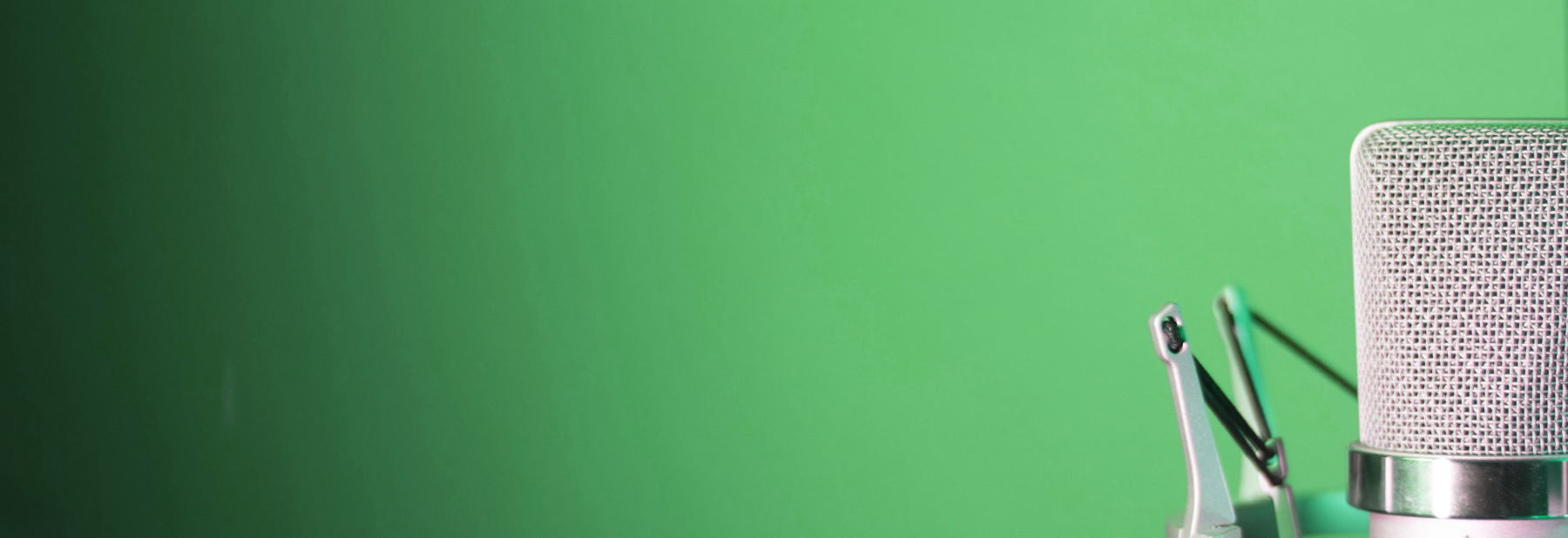 Green background with Microphone