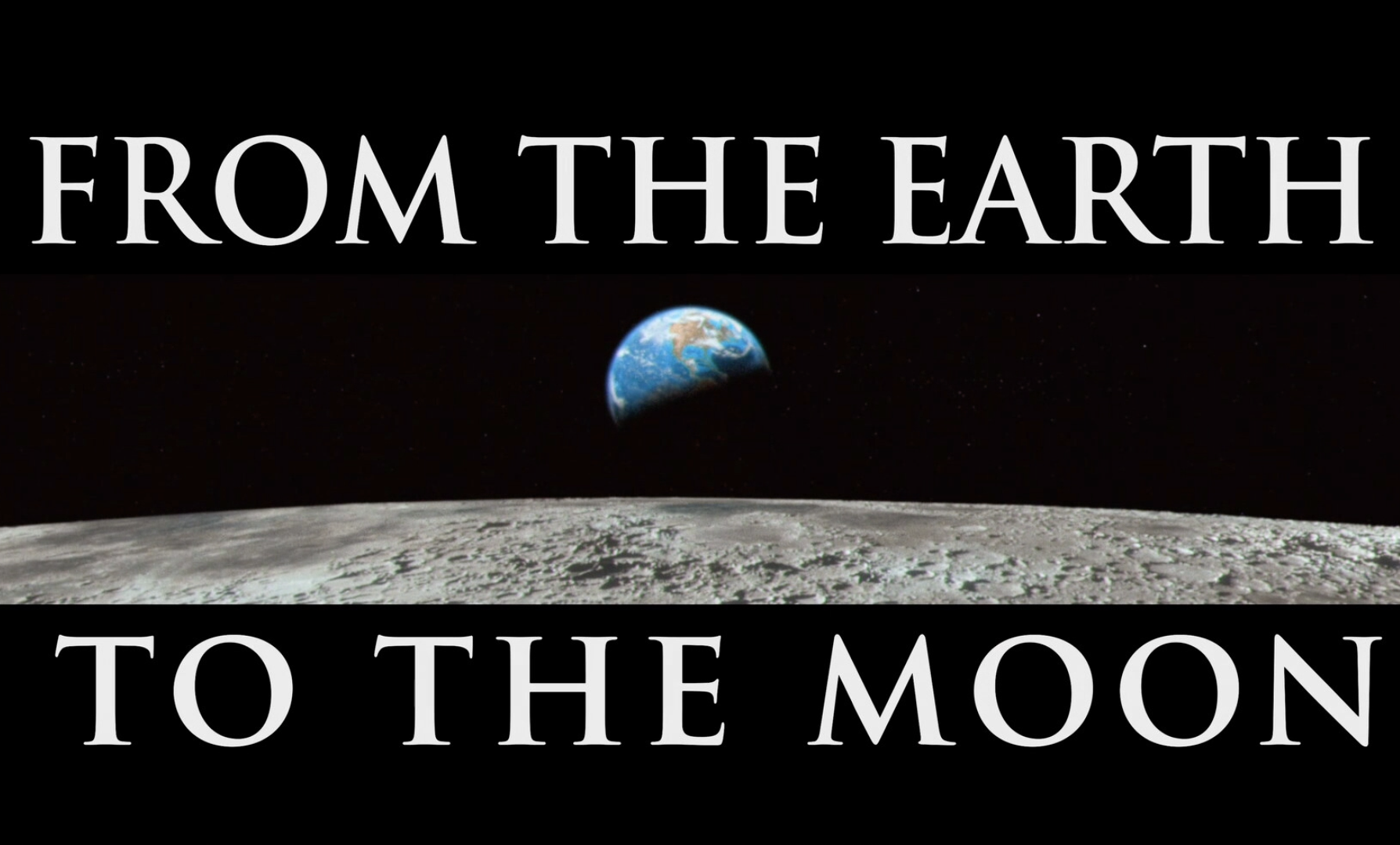 From the Earth to the Moon Title Graphics